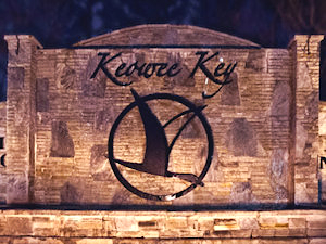Keowee Key sign at corner